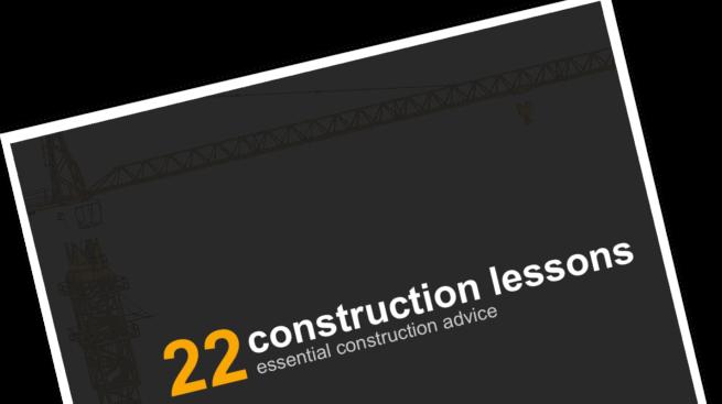 22 Construction Tips Ebook