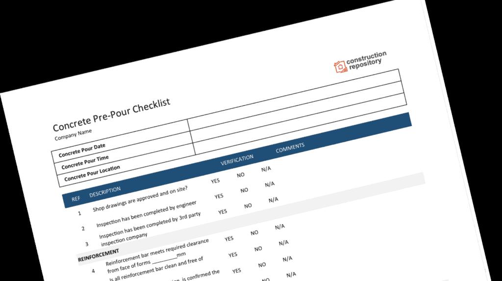 Construction Pre-Pour Checklist