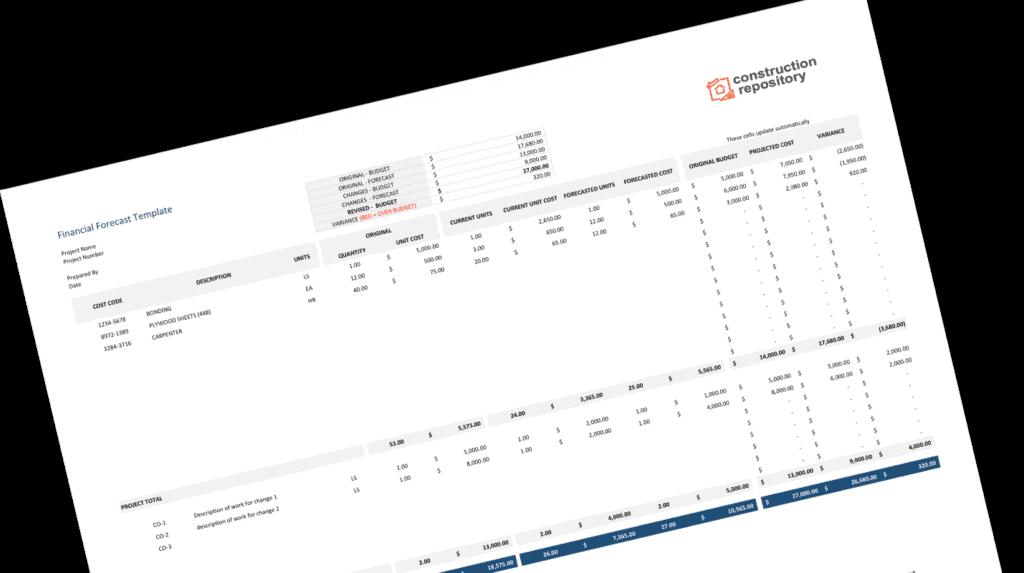Construction Financial Forecast