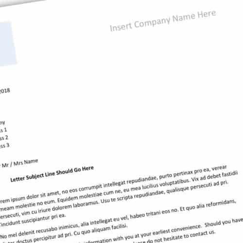 Construction Letter