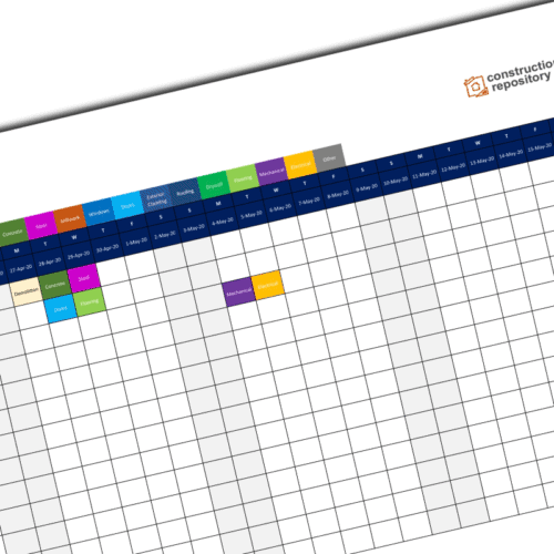 Construction pull planning template
