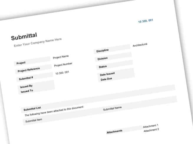 Construction Submittal Form