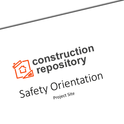 Construction Safety Orientation Template