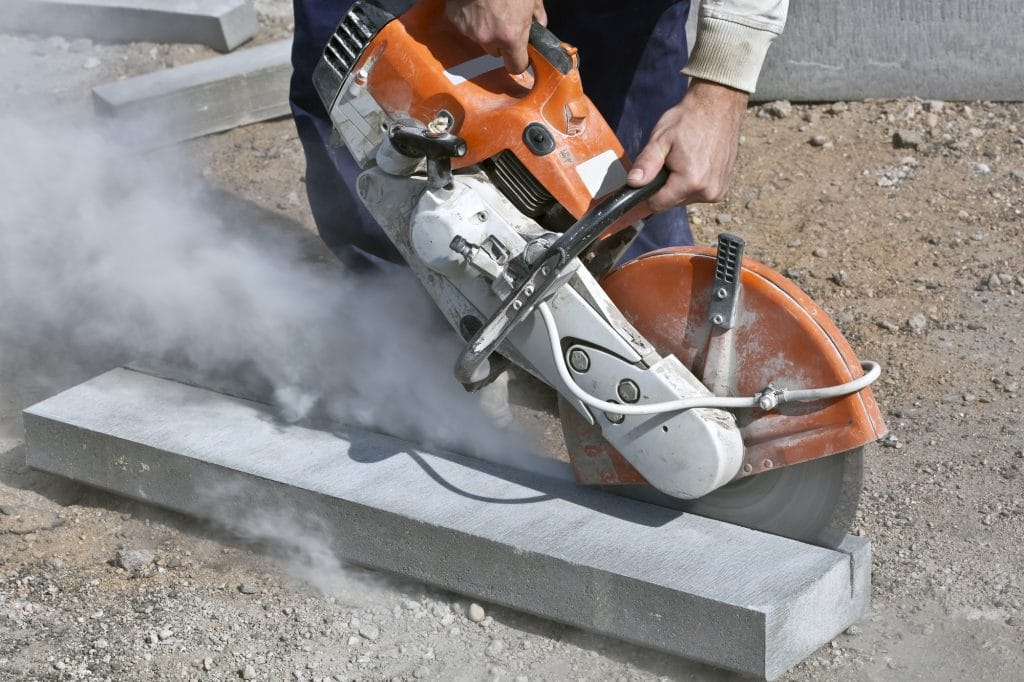 Saw cutting in construction