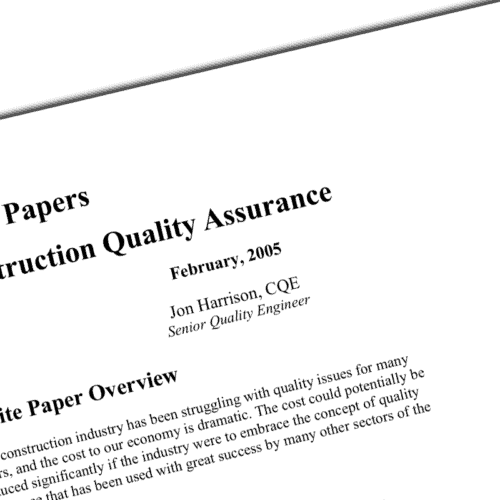 construction quality assurance whitepaper