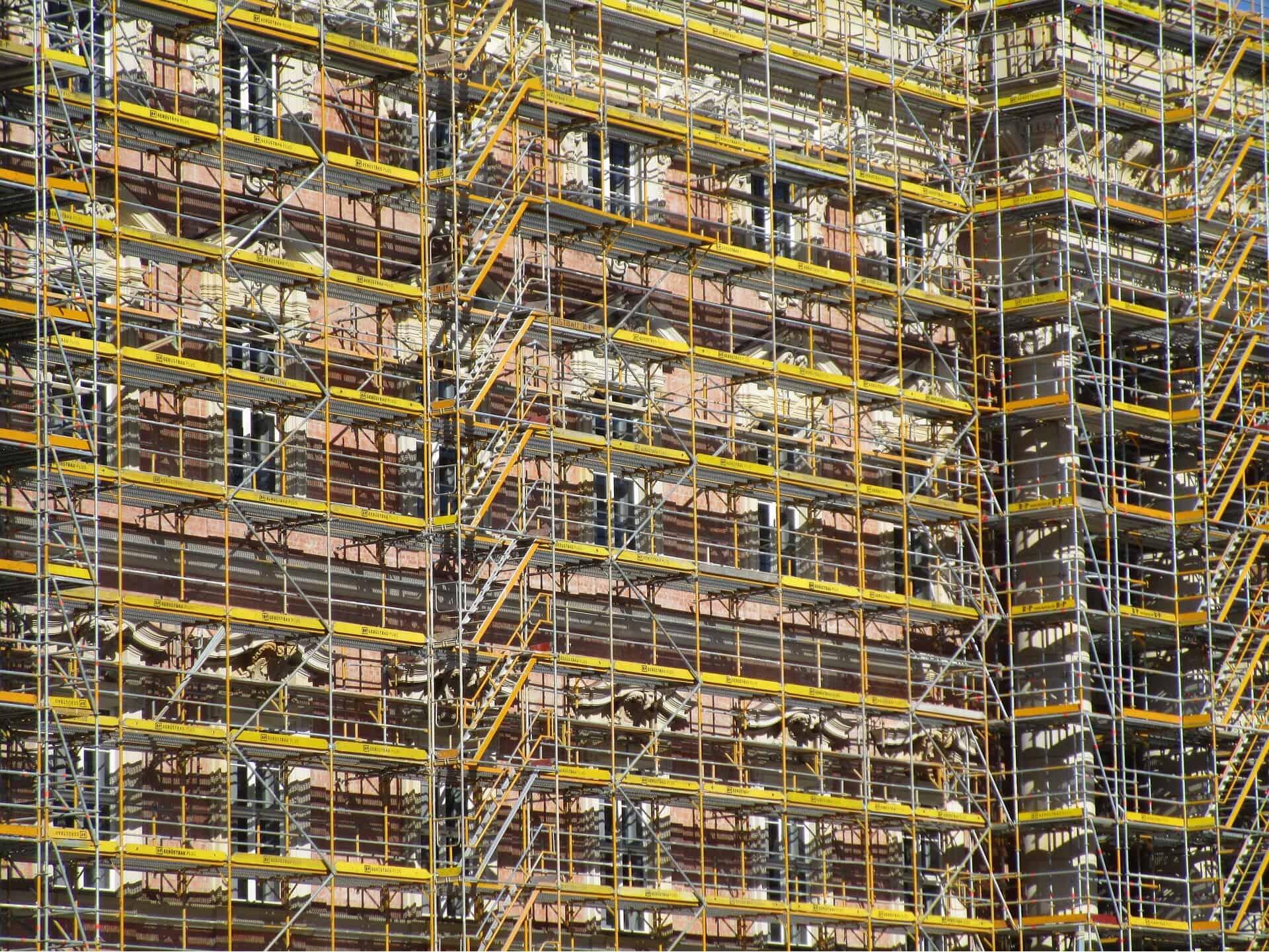 construction exterior access - scaffolding