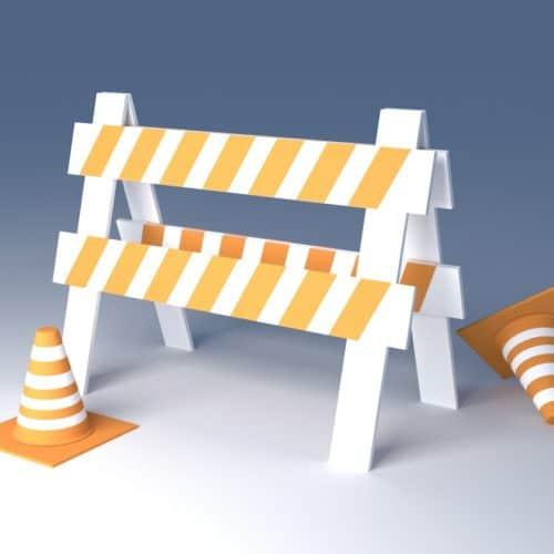 Animated caution