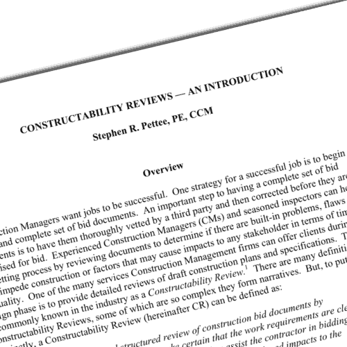 Whitepaper constructability