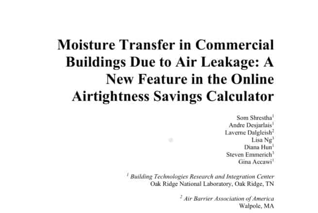 Moisture in commercial buildings