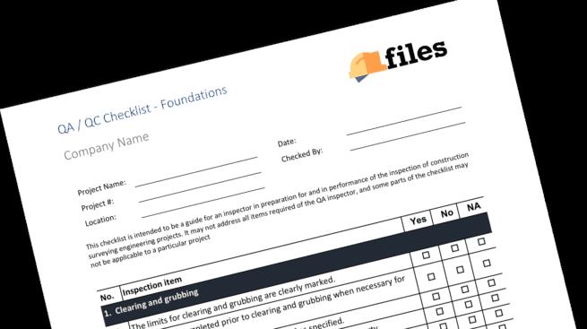 Quality checklist - foundations