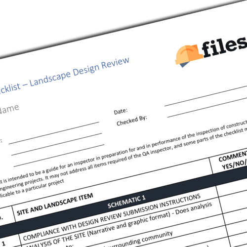 LANDSCAPE design checklist