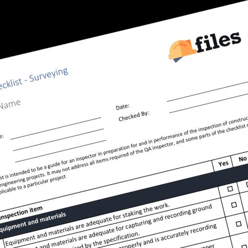 QAQC Checklist - Surveying
