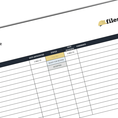 Mock-up Schedule