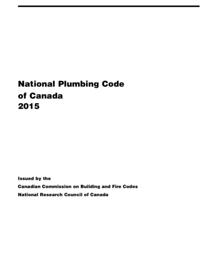 National plumbing code 2015
