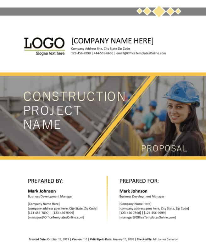Construction proposal word
