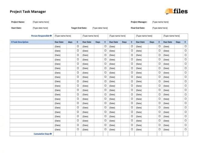 Construction project task manager