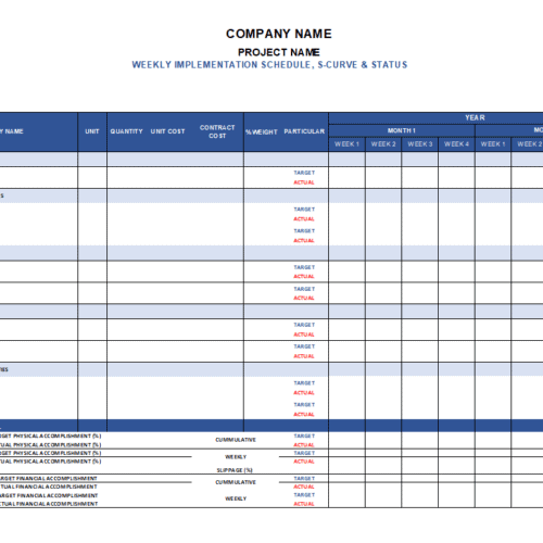 Weekly Construction Planner