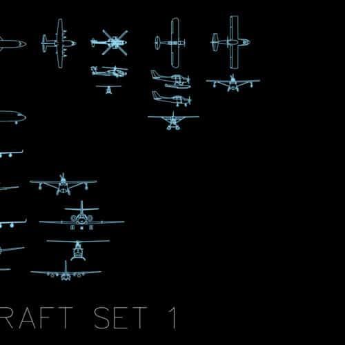 Aircraft set 1 - AutoCAD blocks
