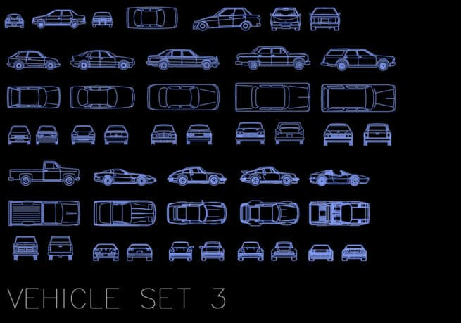 AutoCAD blocks - vehicles