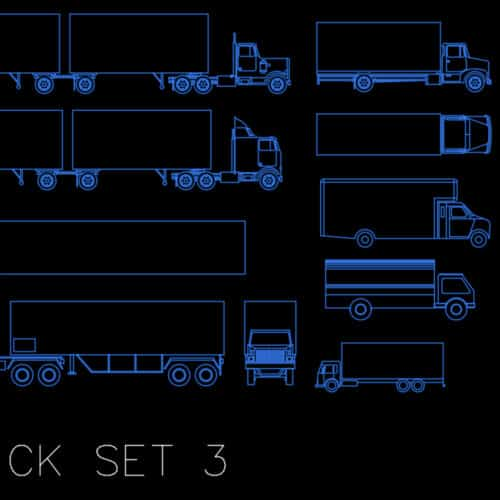 AutoCAD blocks - truck set 3