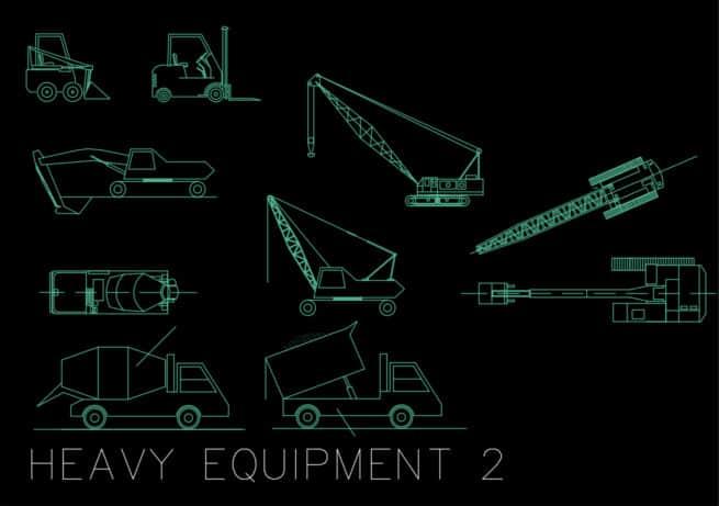 Heavy Equipment - Autocad