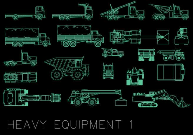 heavy equipment autocad blocks