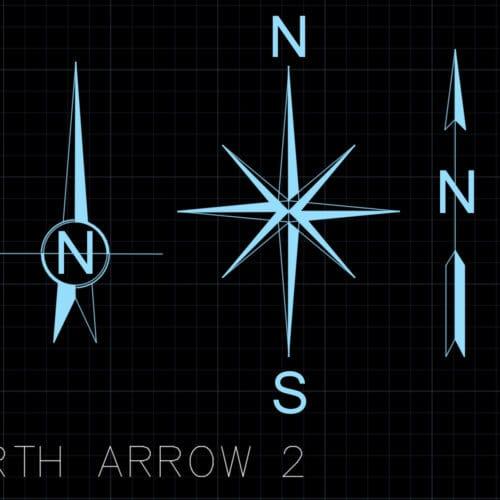 North arrow 2 - AutoCAD blocks