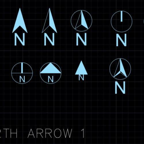 North arrows 1 - AutoCAD blocks