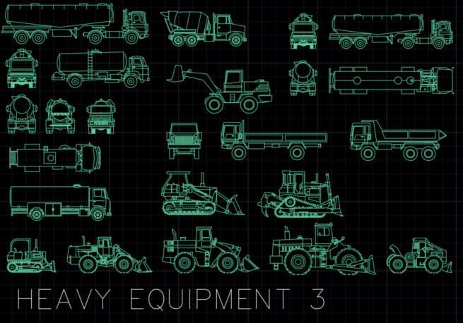 AutoCAD blocks - heavy equipment