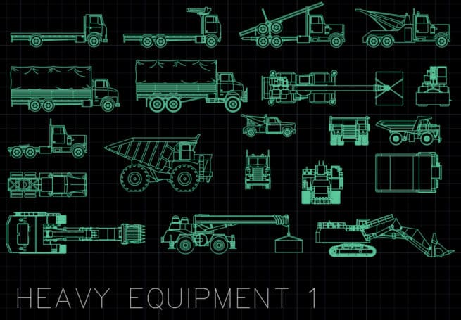 AutoCAD Blocks - Heavy Equipment 1