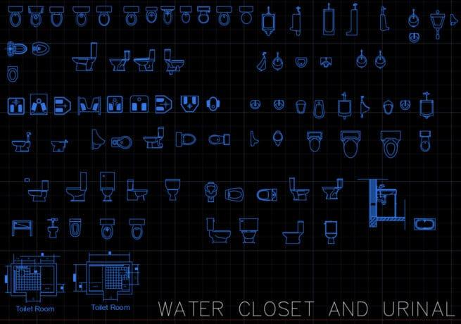 Water closet and urinal