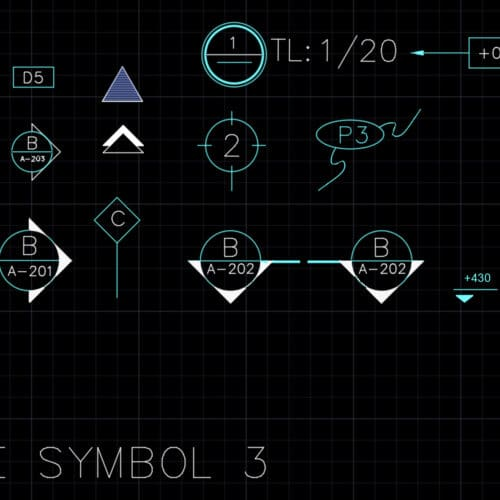 AutoCAD blocks - drafting symbols 3