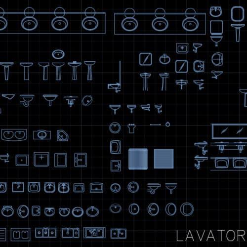 Lavatory - AutoCAD blocks
