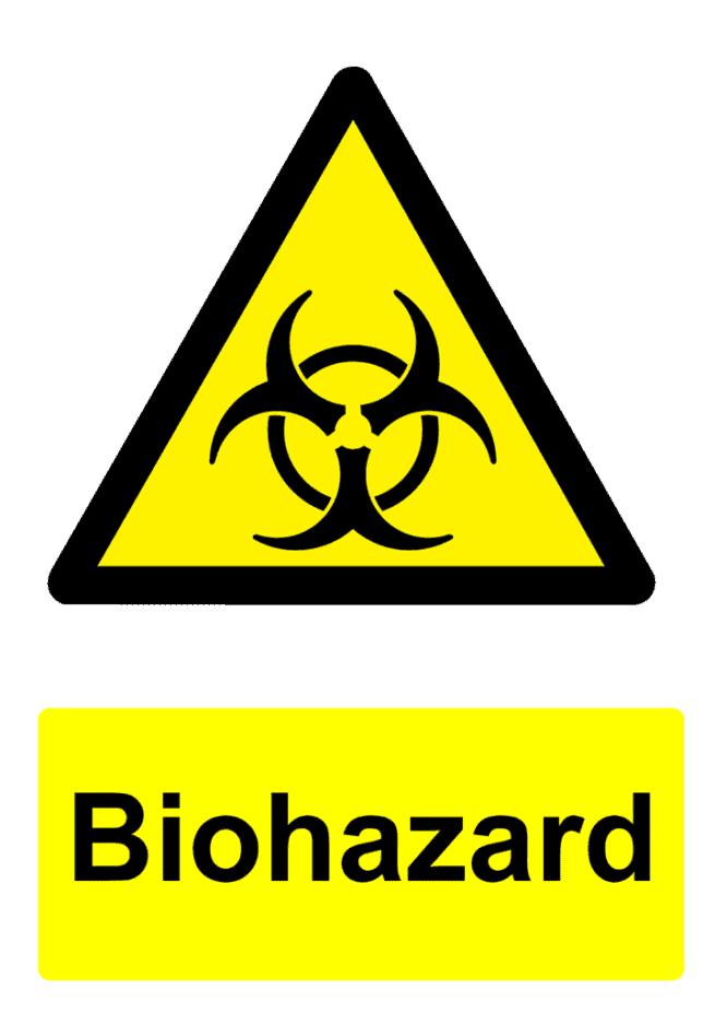 Biohazard construction sign