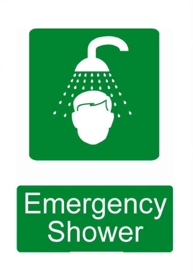 emergency shower signage