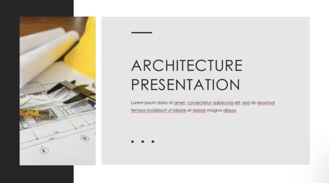 Architecture presentation template