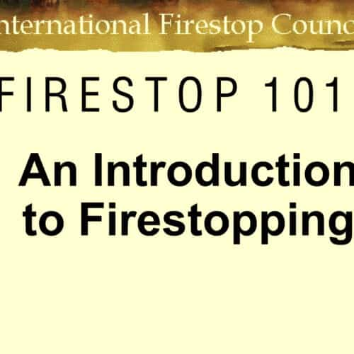 Introduction to firestopping